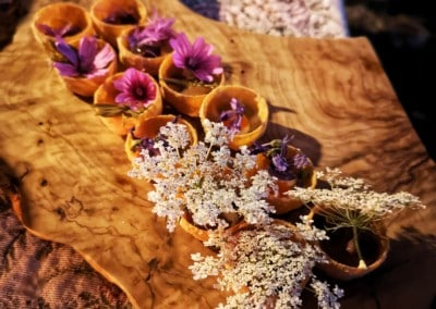 vegan-reisen-italien-wildblumen-wildkräuter-vorspeise