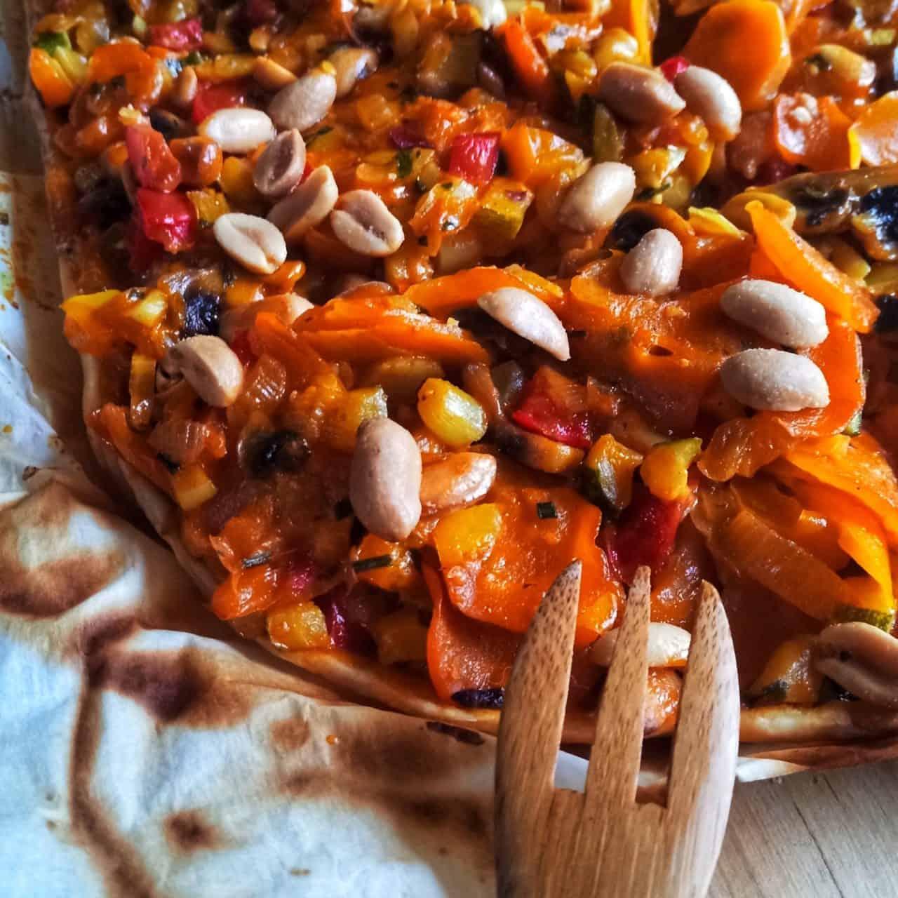 Vegane Campinggerichte - Karotten-Lauch-Tarte